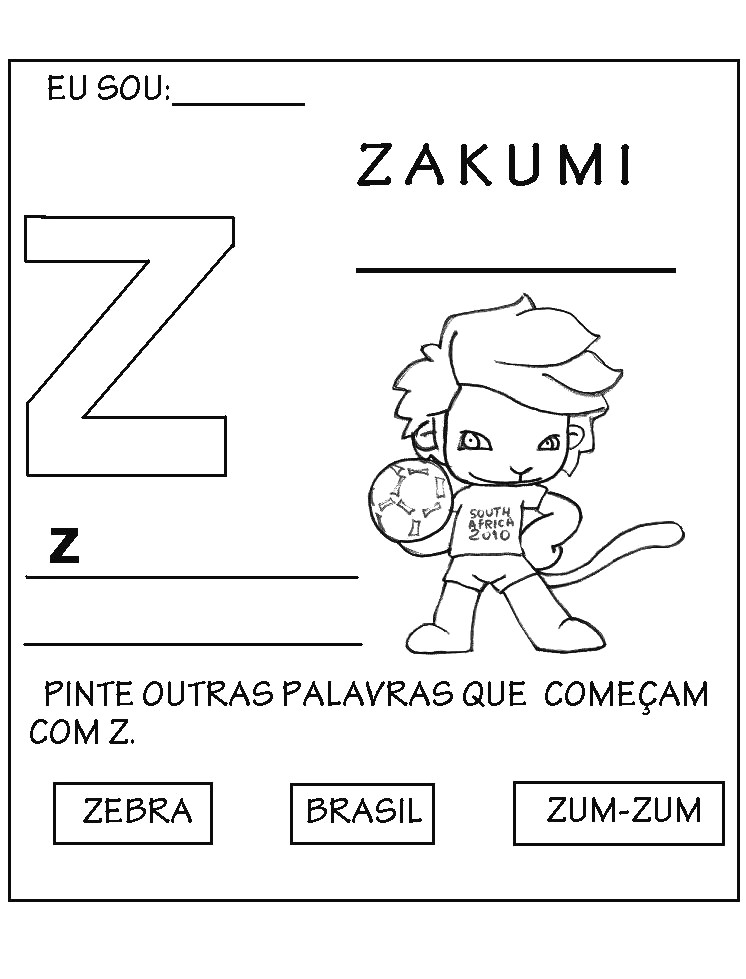 zakumi coloring pages - photo #16