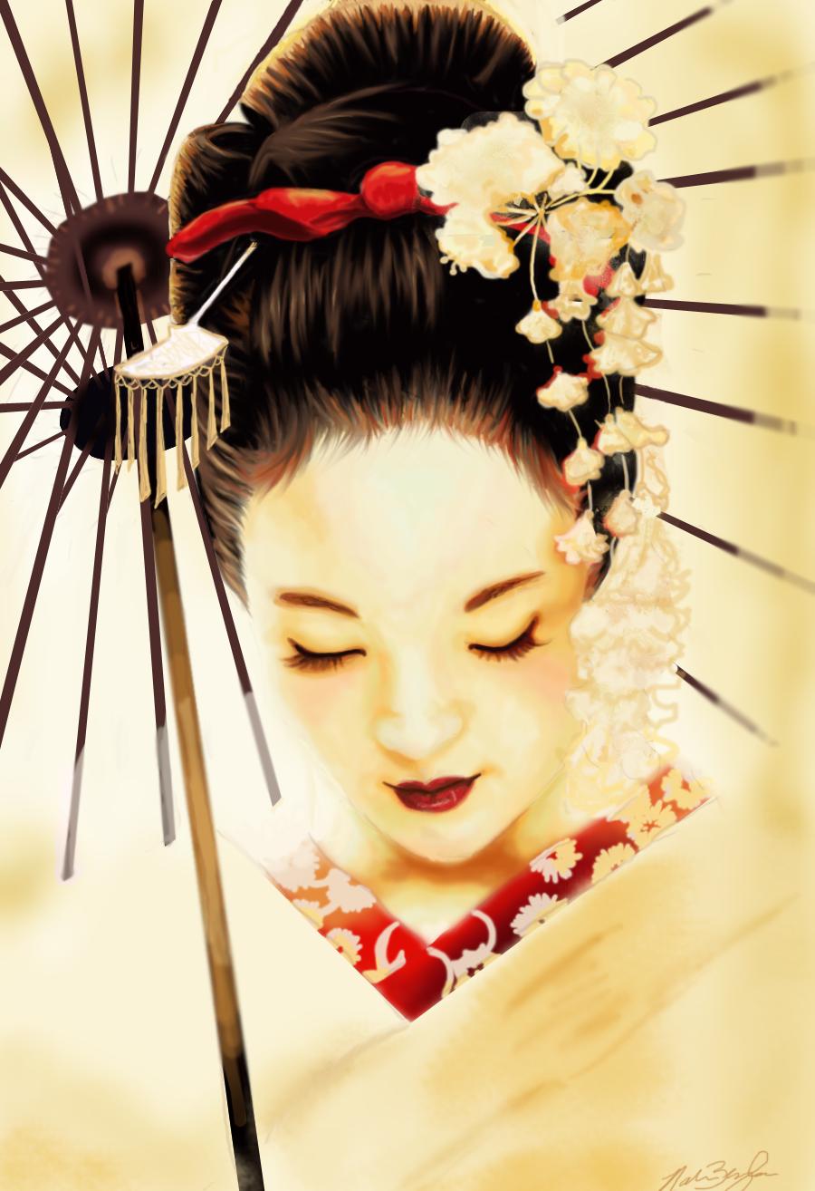 Geishas Japonesas Cermica fina Antiguas Fotos reales