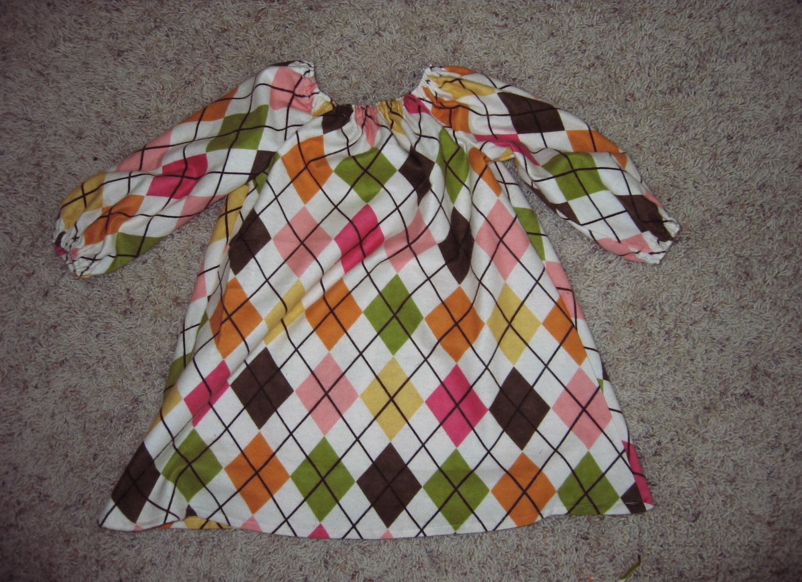 Little Bean Workshop Long Sleeve Toddler Peasant Dress Tutorial
