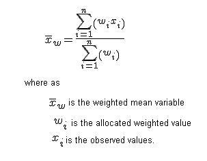 mathematical curiosity weighted mean formula