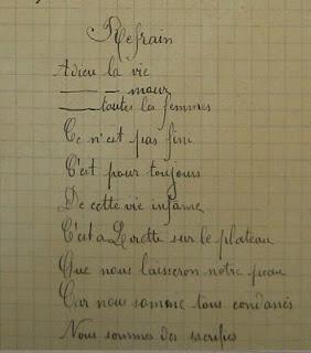 La chanson de Craonne. dans France politique craonne_manuscrite