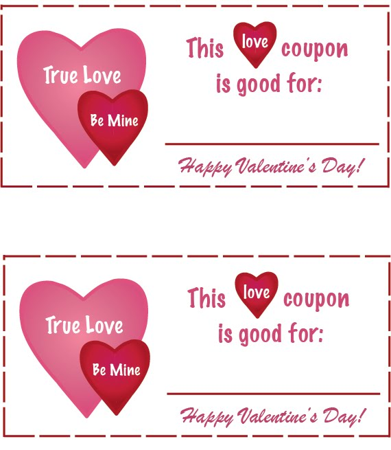 Dicuscontbet: Valentines Love Coupons