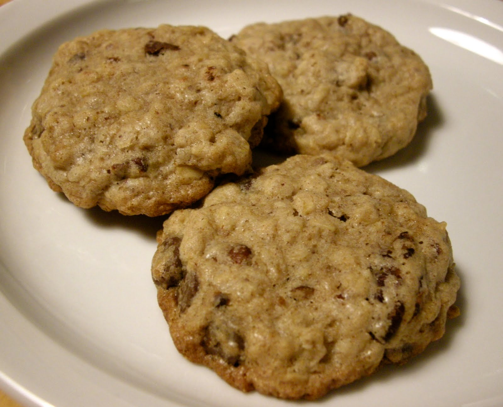 chocolate chip pecan oatmeal cookies 1 cup pecans 1 4
