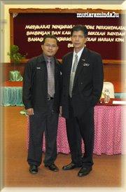 Bersama Penolong Pengarah Bah. Pengurusan Sekolah Harian KPM. Tn. Ab. Rahim Osman