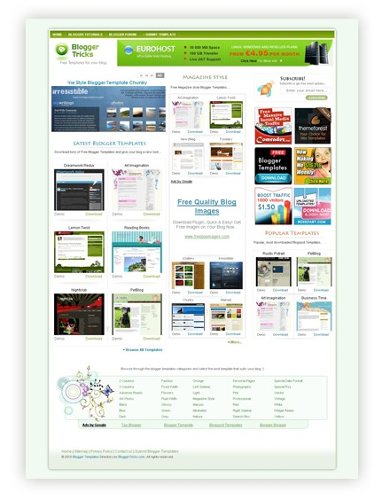 Blogger templates site
