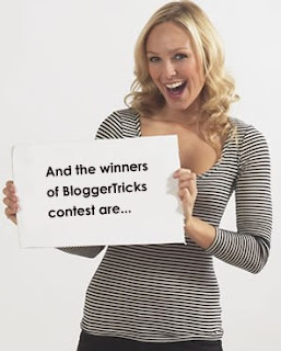 Blogger Tricks Contest winners