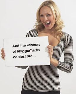 Blogger Tricks Contest winners