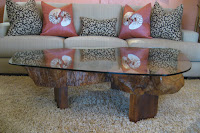 ---- CLARK Functional Art ---- Art as Furniture: Teak Burl Tree Trunk Table :  contemporary home furniture coffee table