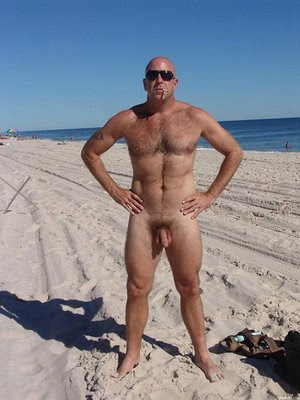 Beach erotic hairy male nude sex tanlines