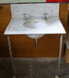 Antique Marble Sink : ... Antiques & Custom Designs: Antique Victorian Marble Sink w/ Nickle