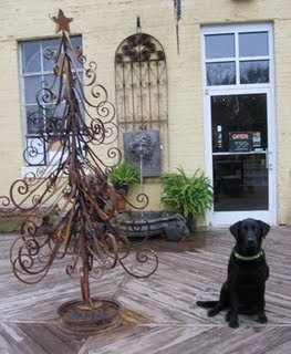 antique wrought iron table top christmas tree - Iron Christmas Tree