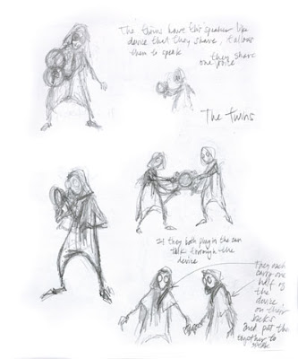 this image is a never before seen character design sketch drawn by shane acker during the initial conception of the characters 3 4 from the upcoming movie