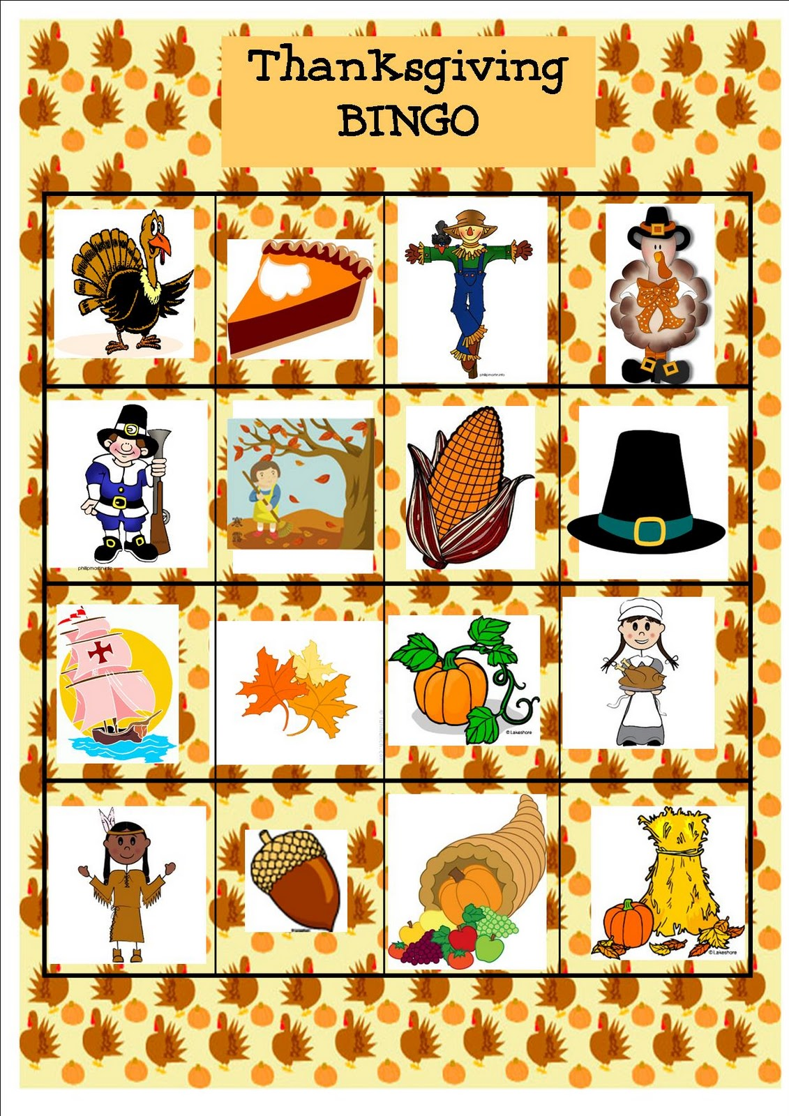 It is a graphic of Accomplished Thanksgiving Bingo Cards Printable