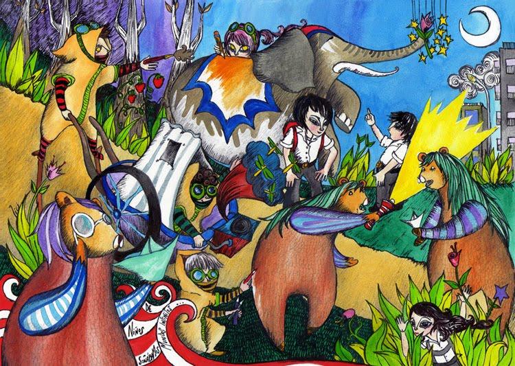 Cuaderno para Colorear, ilustraciones y garabatos