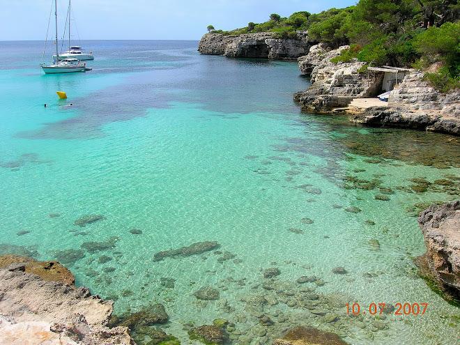 il mare dell'isola di Minorca