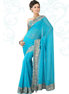 Plava magija Blue-designer-saree