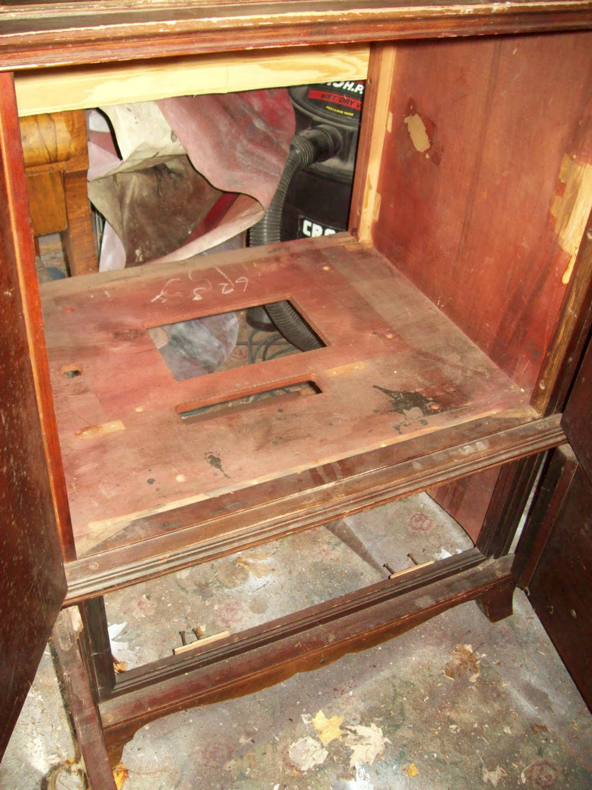 vintage radio cabinet repurposed - My Repurposed Life®