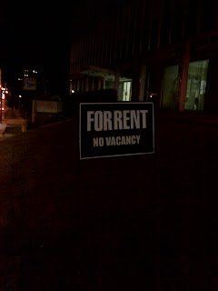 For rent no vacancy