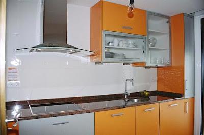 Multiservicios quintanar cocinas - Cocina blanca y naranja ...