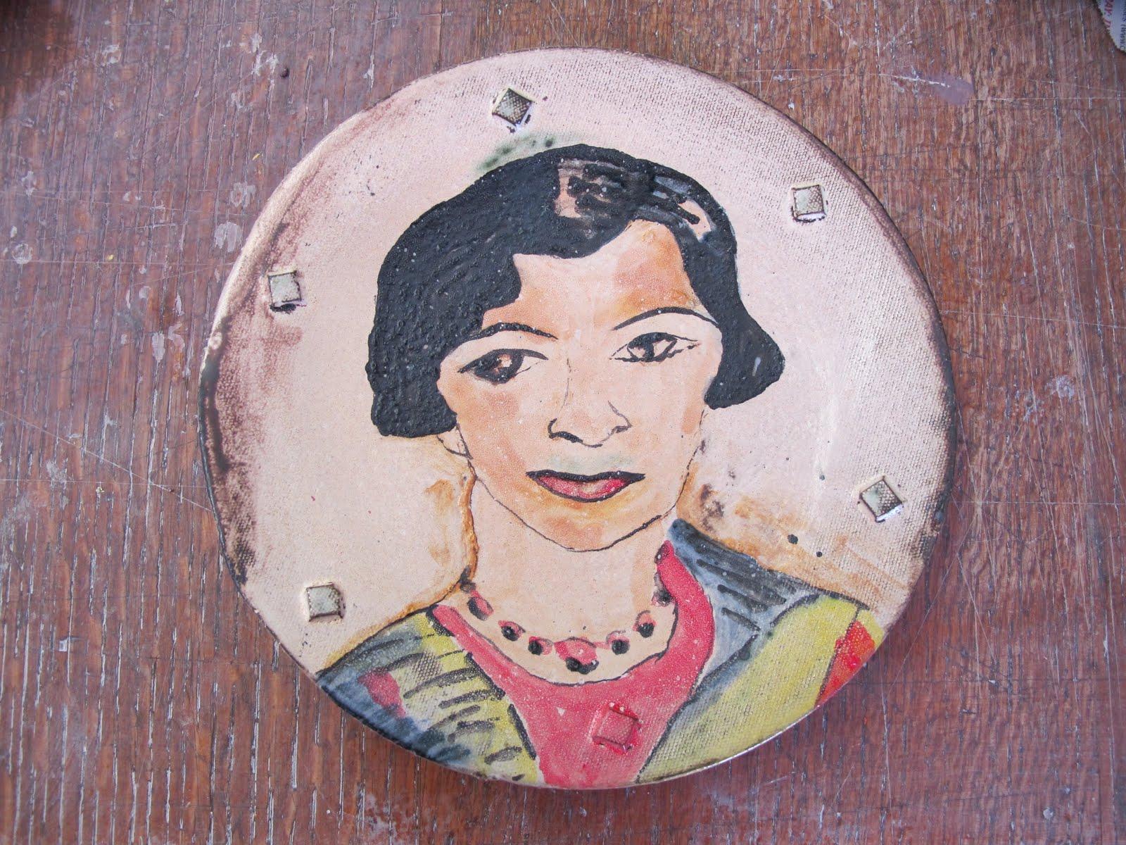 INSPIRED BY PORTRAIT OF A WOMAN BY IRMA STERN - MAJOLICA GLAZE