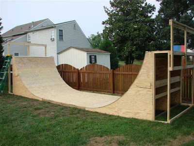 to accommodate a decent sized half pipe