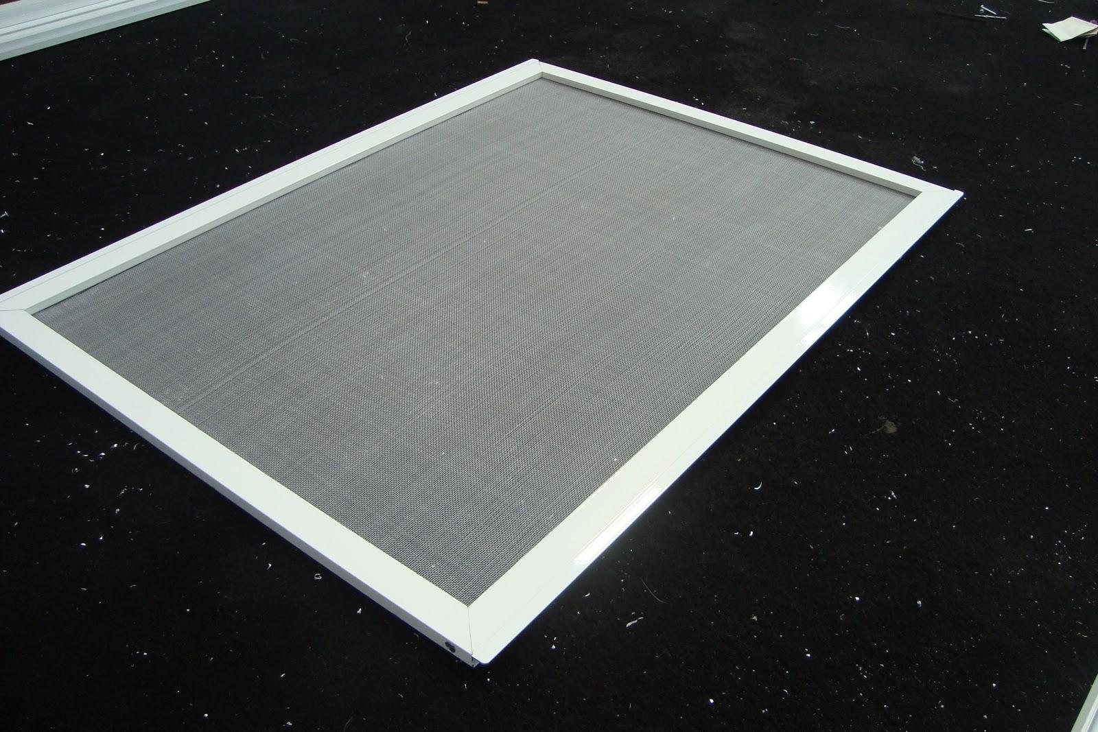 #557660 Tela Mosquiteiro com fio de nylon e tela de Alumínio com  4088 Fecho Japones Janela De Aluminio