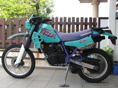 barbie purple teal klr250 1994 1995 1996