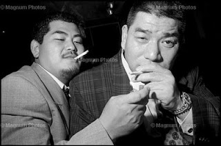 Yakuza in Asakusa, Tokyo. Courtesy of Magnum Photos