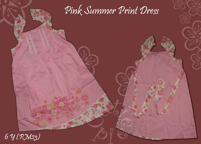 Pink Summer Print Dress