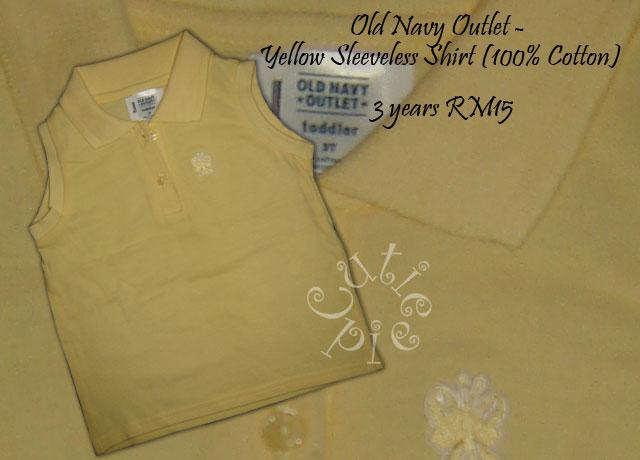 Old Navy - Yellow Sleeveless Tshirt