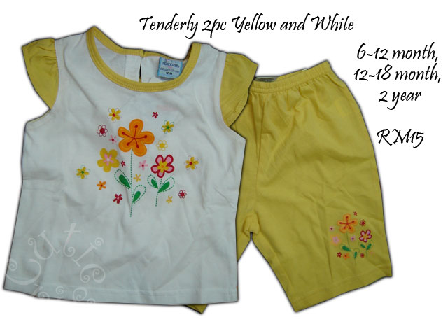 Tenderly 2 pc yellow and white