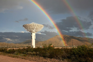 This is one of two antennas near Las Cruces, New Mexico, dedicated to round-the-clock reception of data from the Solar Dynamics Observatory.