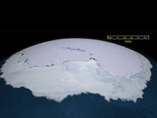 Since the late-1970s, the area covered by Antarctic sea ice has increased by approximately one percent per decade.