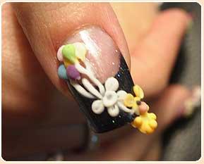 decoracion artistica de uñas acrilicas