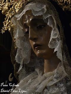 """La Virgen de los Dolores, del Santo Sepulcro, en """"Paseo cofrade"""""""