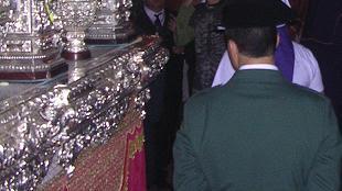 Pasión celebra el patronazgo de la Virgen del Pilar junto a sus Hermanos mayores honorarios