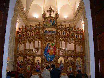 Imágenes de la consagración de la Sagrada Familia al rito bizantino