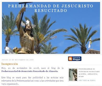 La prohermandad del Resucitado presenta su blog