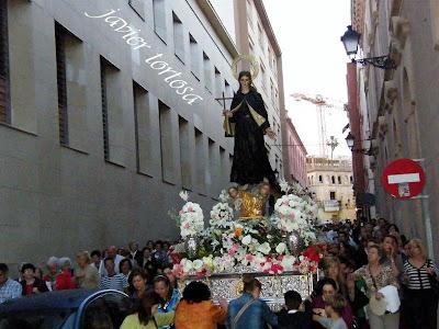 La procesión de Santa Gema en 'Farol de guía'