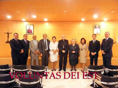 Monseñor González Montes recibió en audiencia a la Junta de gobierno del Santo Sepulcro