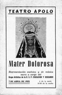 La Virgen del Consuelo y un auto sacro-musical en 1952