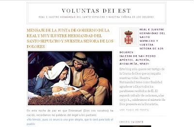 Mensaje de la Hermandad del Santo Sepulcro con ocasión de la Navidad