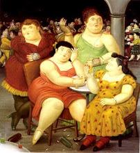"""Cuatro Mujeres"""" de Fernando Botero"""