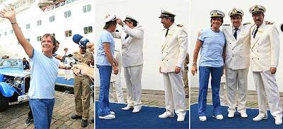 Roberto Carlos embarca no navio Costa Mágica, no Cruzeiro 2009. Primeiríssima mão !