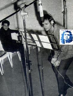 Roberto Carlos gravando a canção Dove Credi De Andare. Foto exclusiva Blog *Roberto Carlos Braga*