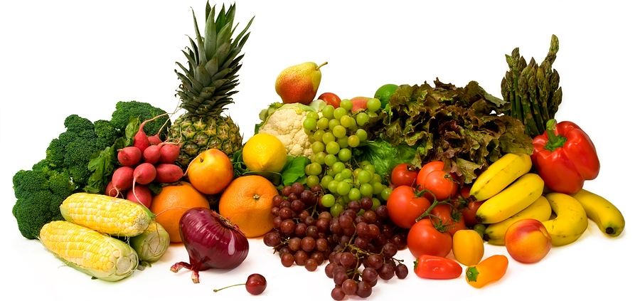 fruits and vegetables each