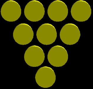 Pirámide de monedas