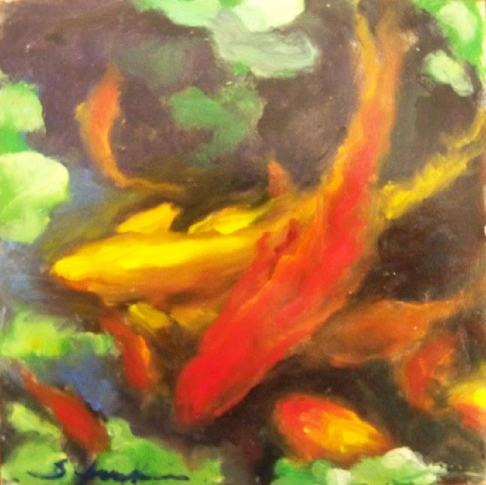 Susan Jenkins Morning Paintings Koi Pond
