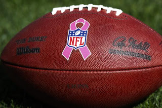 NFL Breast Cancer Pink Football