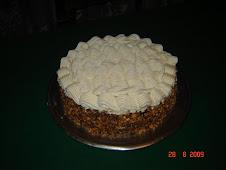 Chocolate con crema y mani